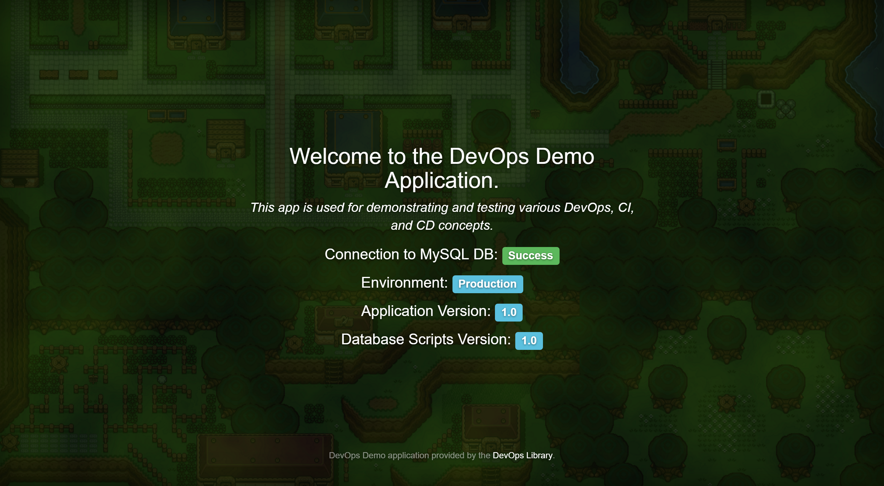 DevOps Demo Screenshot