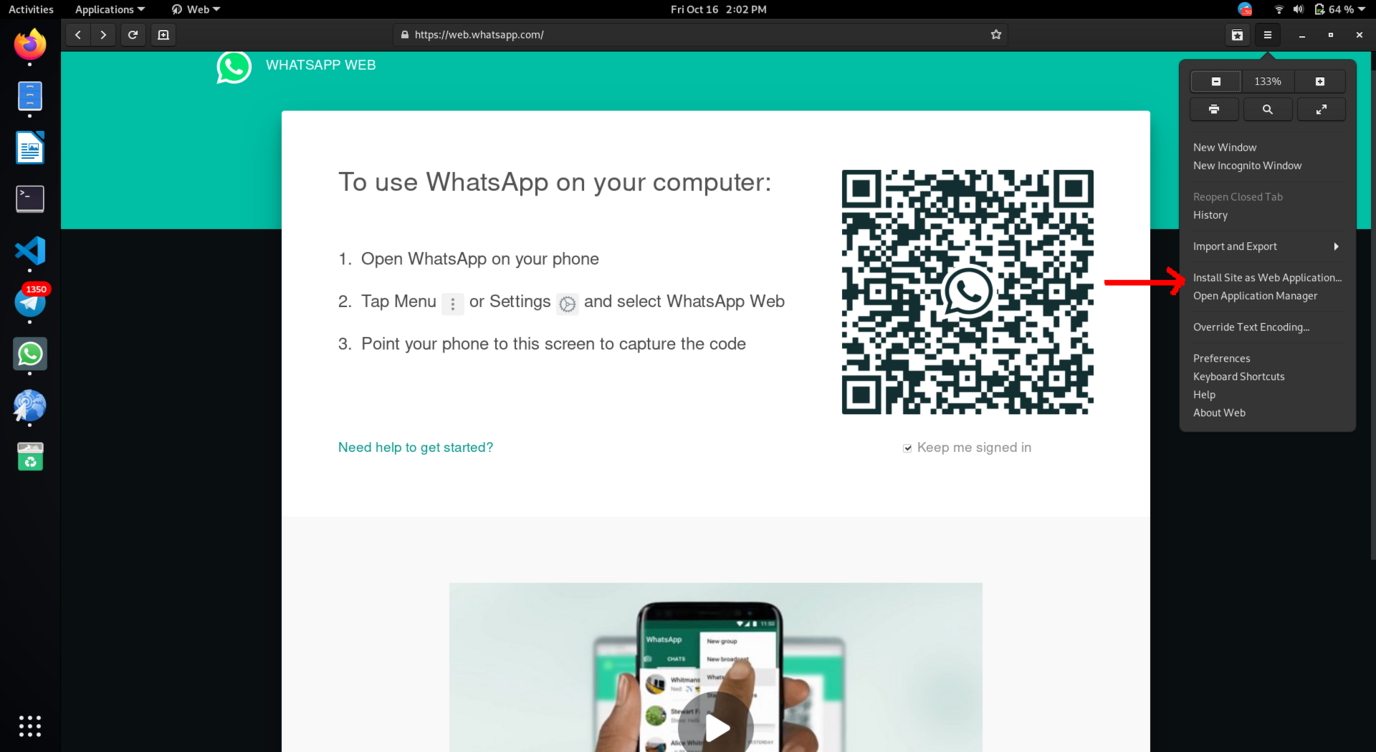 Whatsapp install