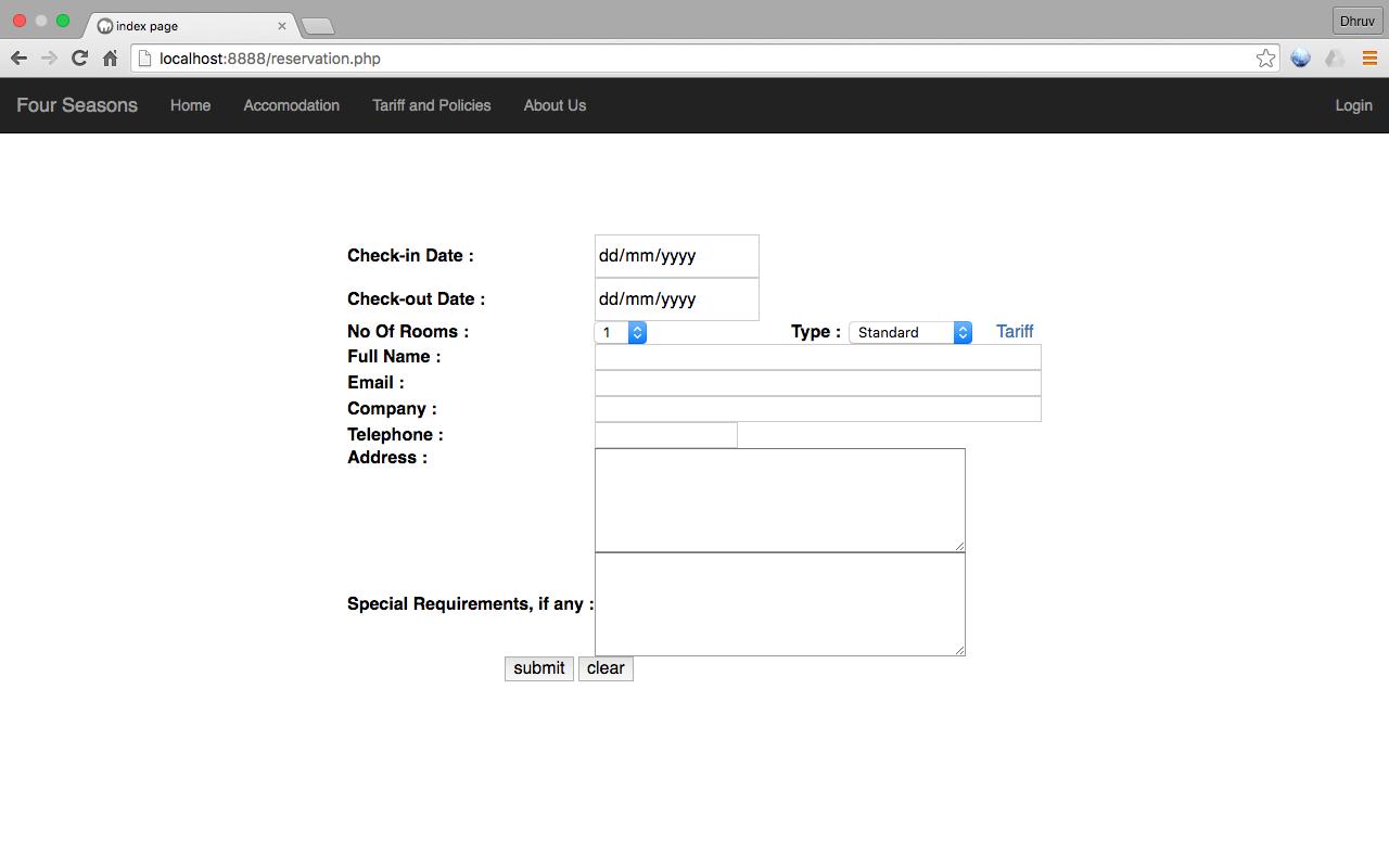 GitHub - dhruvmullick/hotel-reservation-system: A MySQL-PHP