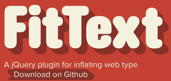 FitText - A plugin for inflating web type