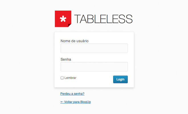 wp-login-tableless