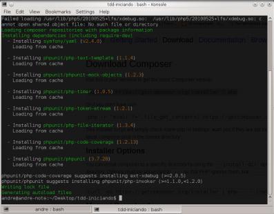 PHPUnit - Instalação a partir do composer