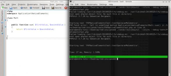 PHPUnit - Método com a lógica necessária e primeiro teste passando
