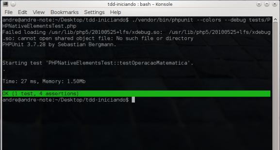PHPUnit - Teste passando após refatoração