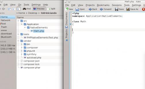 PHPUnit - Classe de produção, nela os problemas criados nos testes serão solucionados