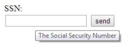Imagem mostra o atributo title de um campo de formulário ao usuário deixar o mouse sob ele