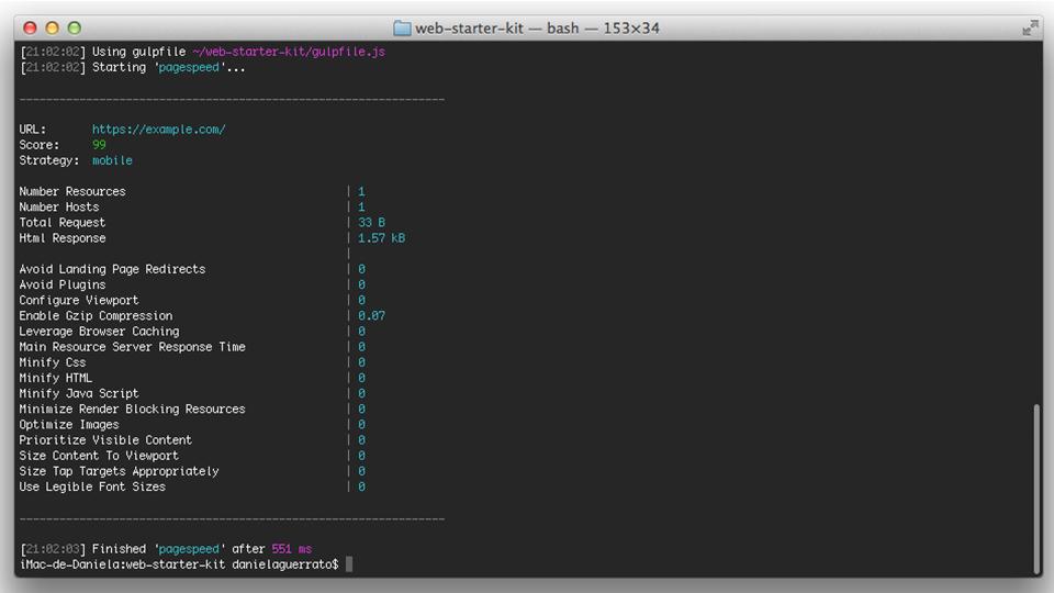 web-starter-kit-pagespeed