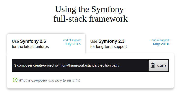 Download do Symfony