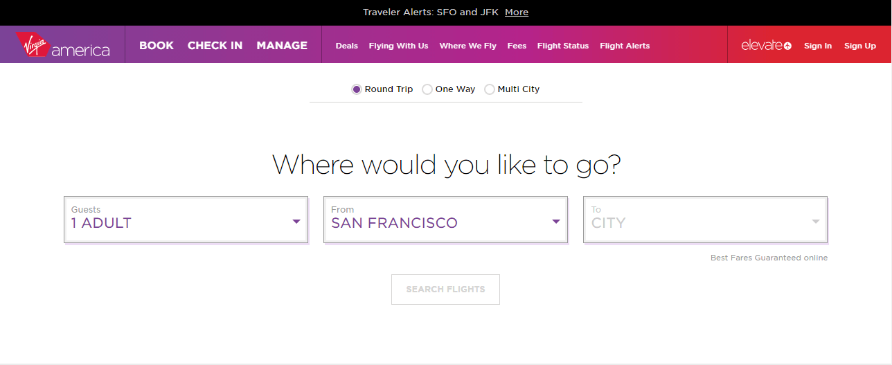 Site Virgin America