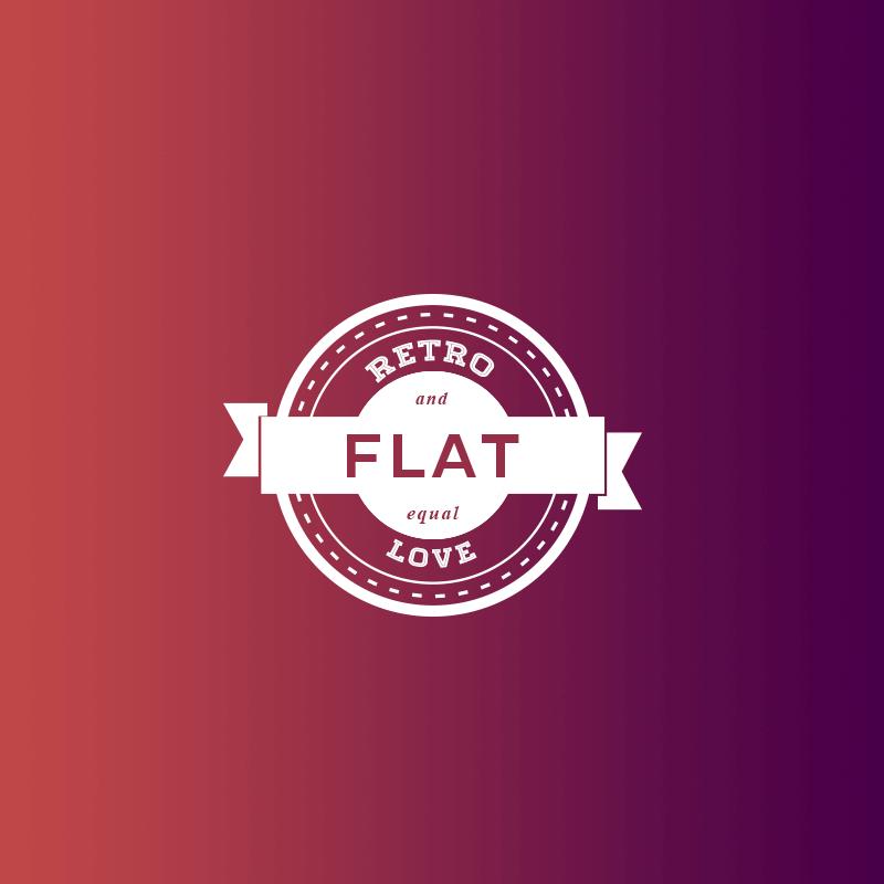 exemplo de gradiente + flat design