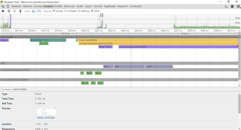 Google Chrome - Timeline