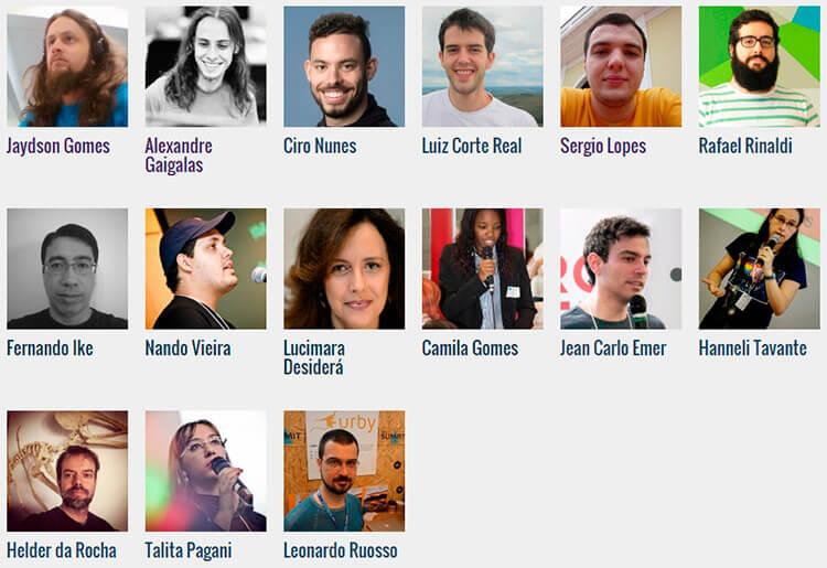 Imagem com foto dos primeiros palestrantes da Webbr2015
