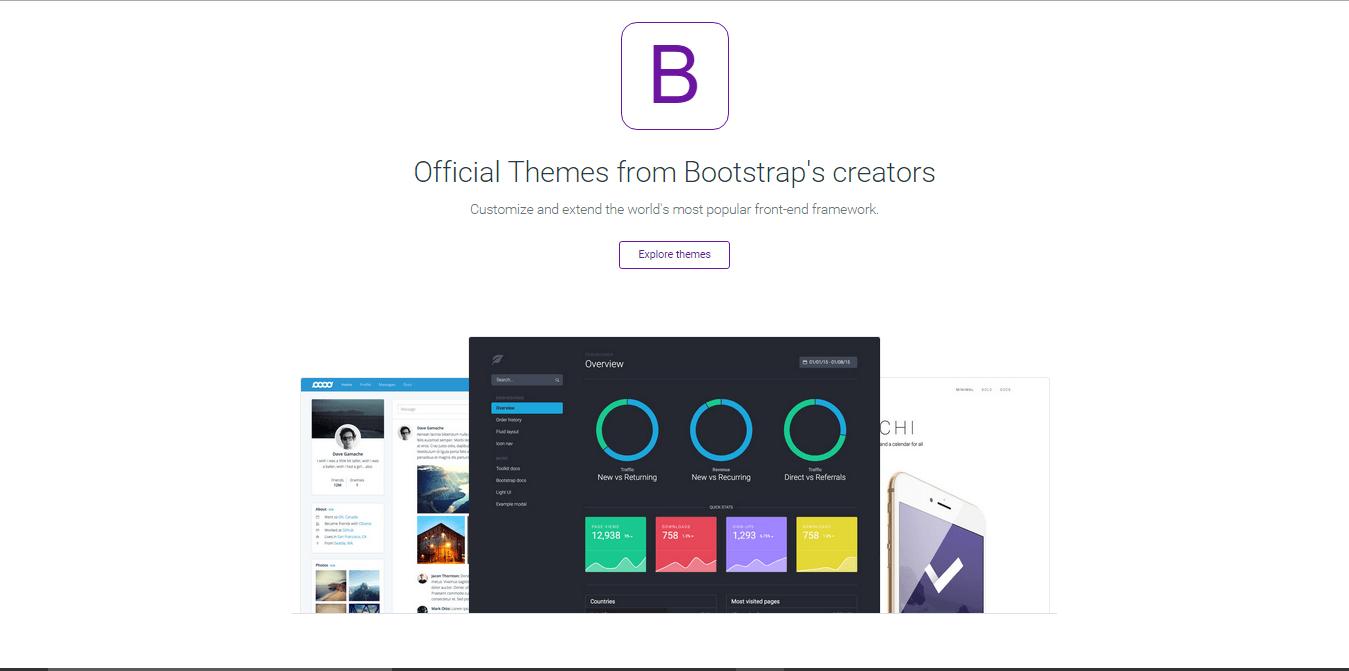 Temas para os criadores que utilizam o Bootstrap 4