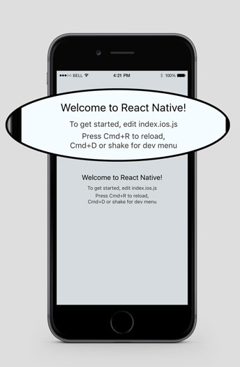 react native initial screen