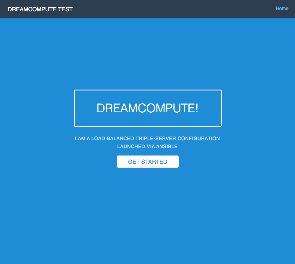 A Snapshot of the NodeJS Project We Made for Testing DreamCompute
