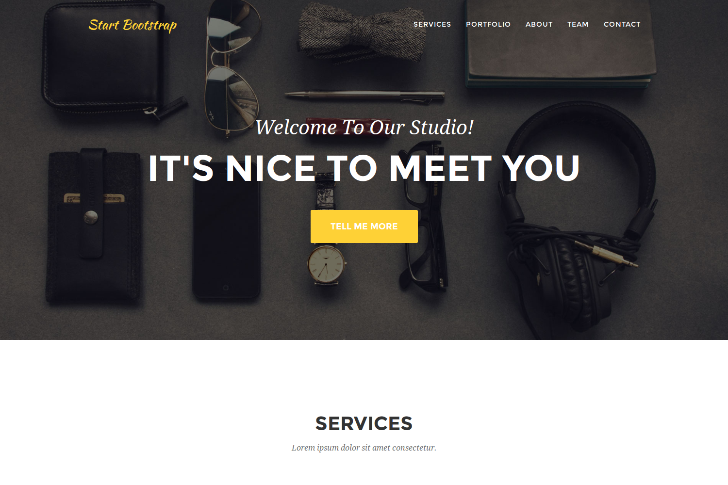Hugo Agency Theme screenshot