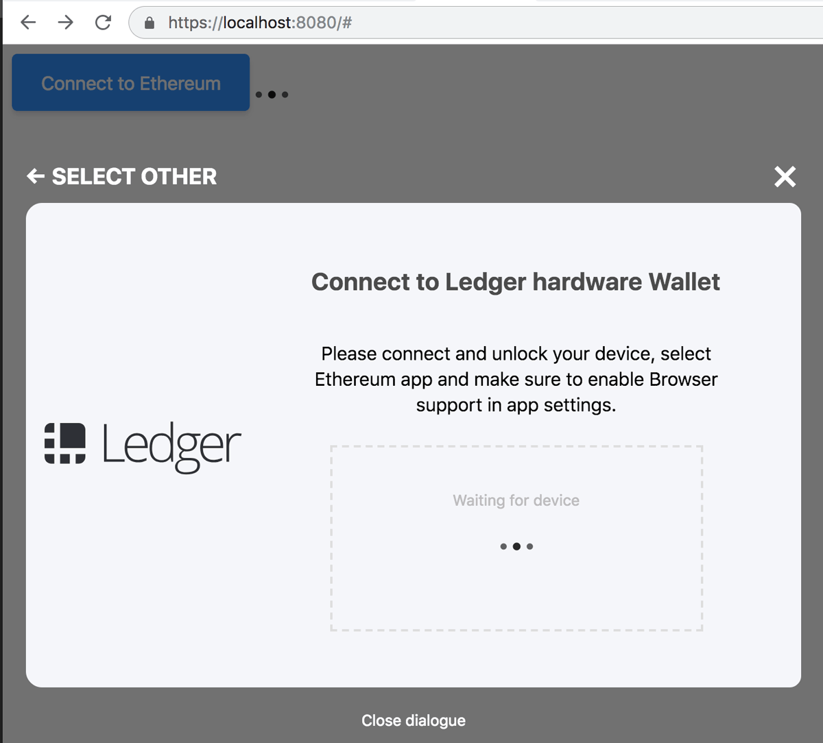 Connect with Ledger
