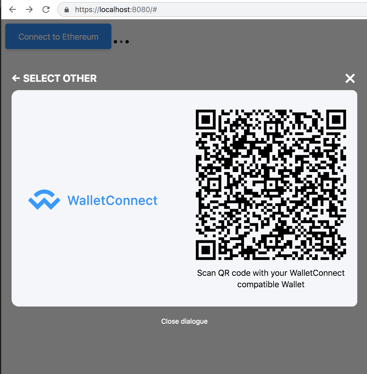 Connect with WalletConnect