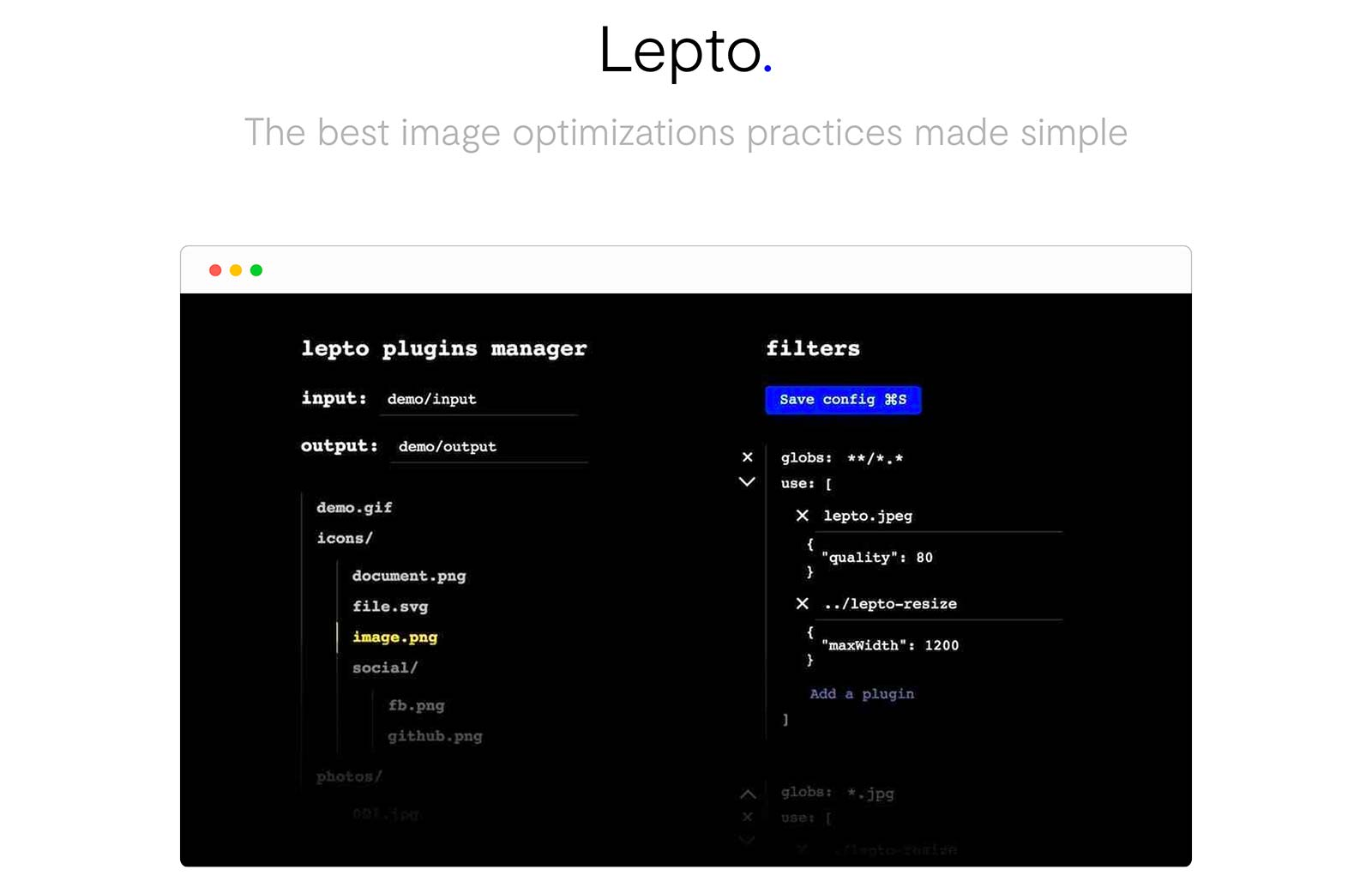 Lepto: The best image optimizations practices made simple