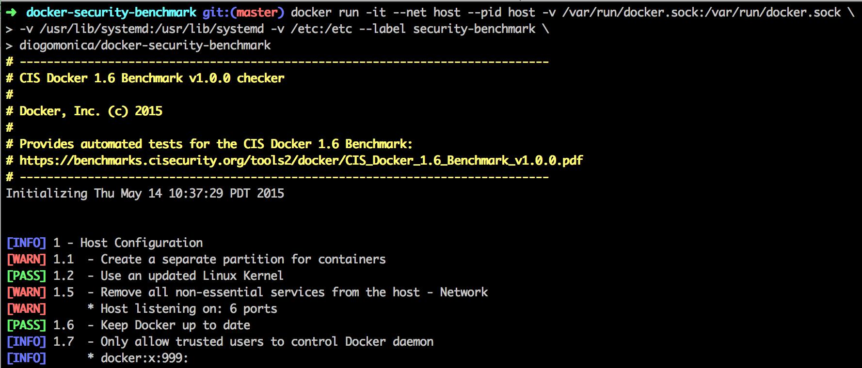 Docker audit tools