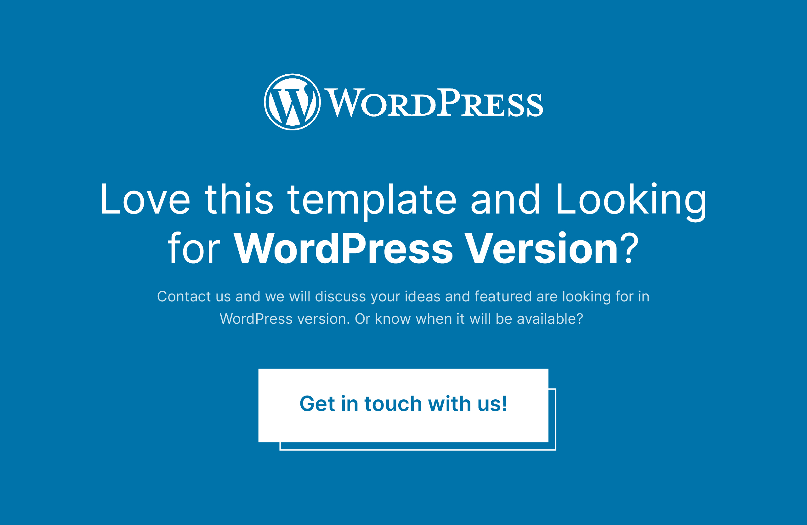 Looking For WordPress Version?