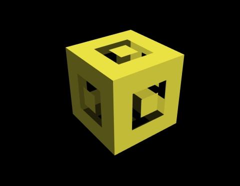 Masked cube