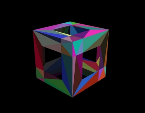 Masked cube facets