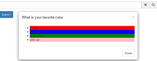 Simple Example - screenshot