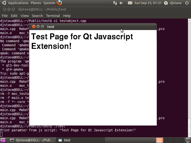 Qt javascript扩展