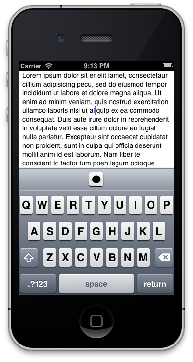 Screenshot of the sample project example