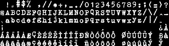 24 Point GNUTypeWriter Font
