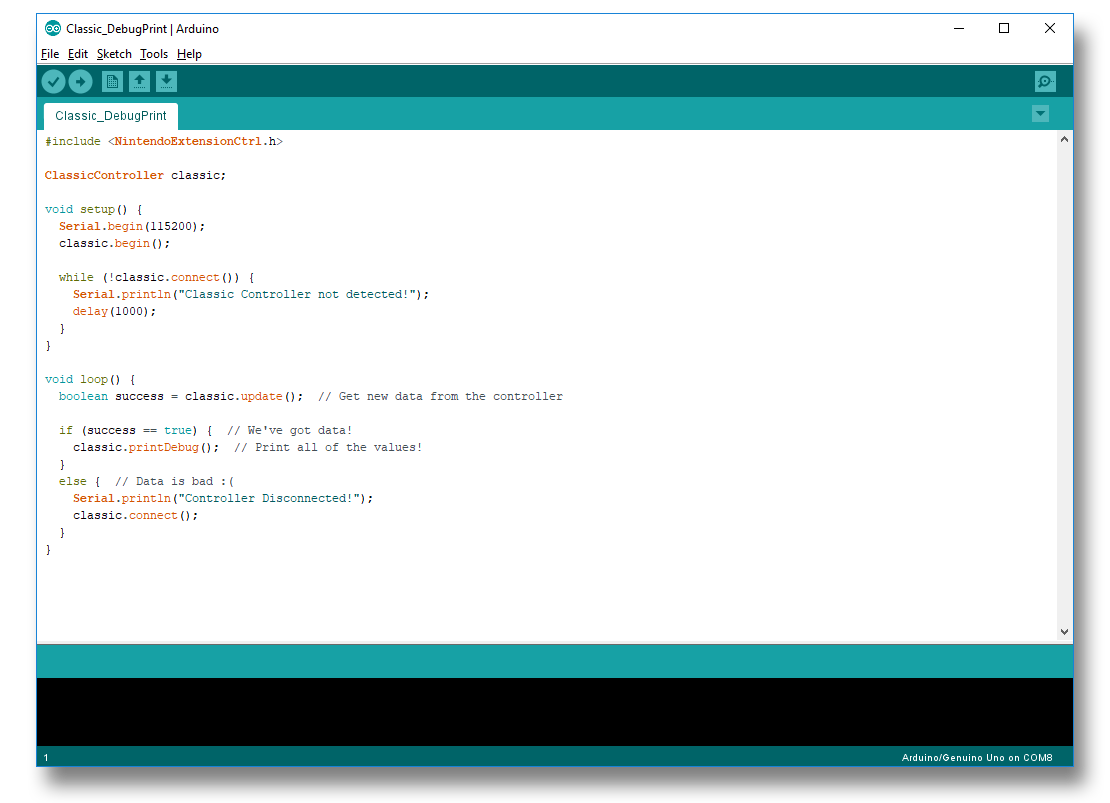 ClassicController Example in IDE