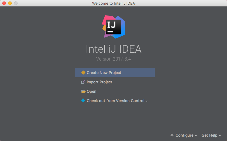 intellij welcome