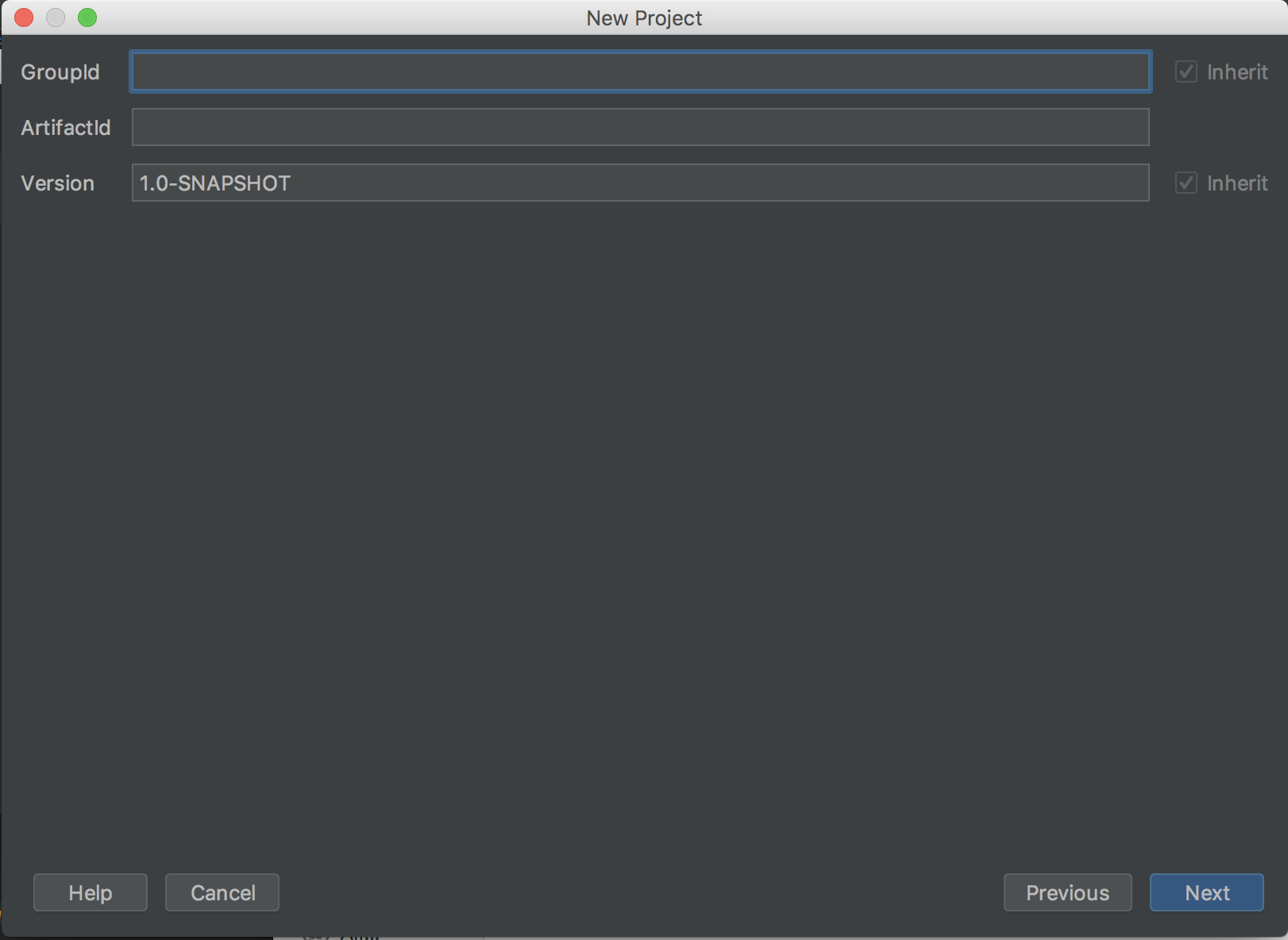 project metadata
