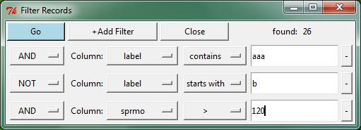 Filtering · dmnfarrell/tkintertable Wiki · GitHub