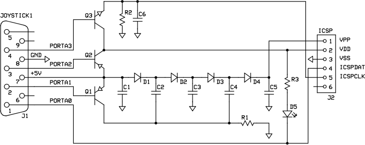 JOY2PIC Schematic
