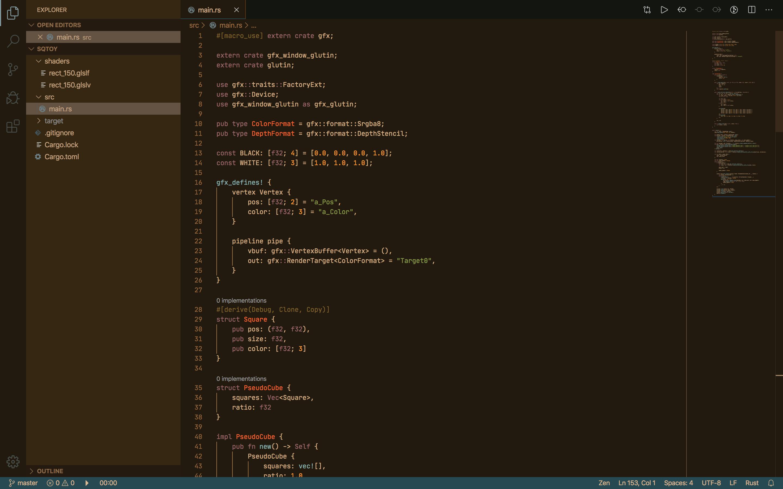 Rust syntax highlighting demonstration