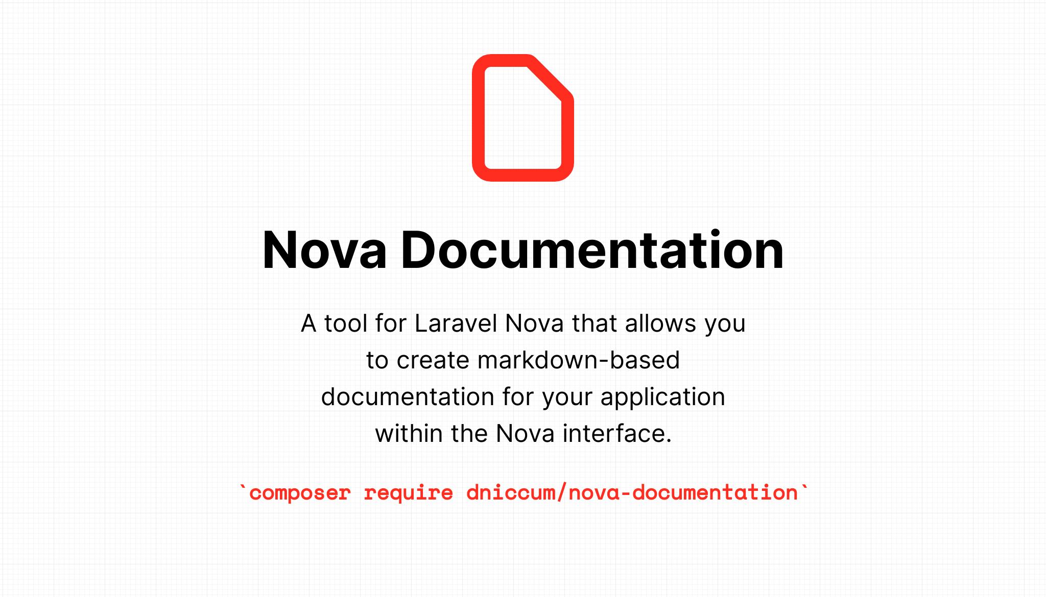 Documentation tool for Laravel Nova