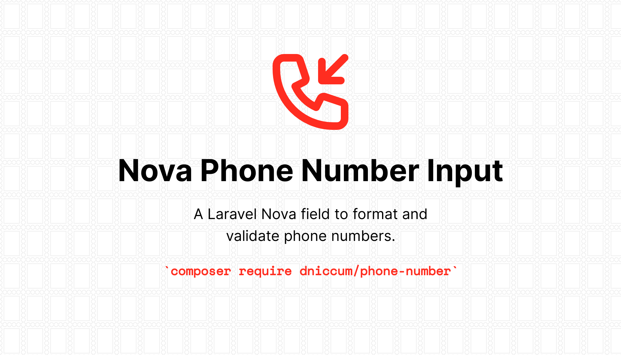 Laravel Nova Phone Number Field