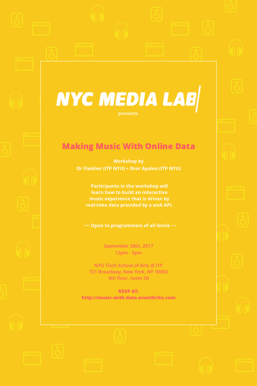Making Music With Online Data Workshop