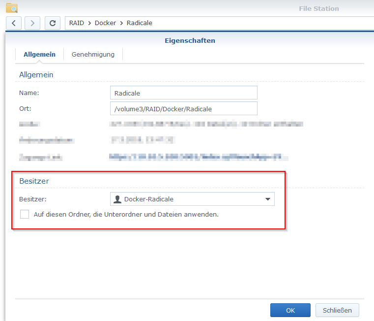 Synology Docker Volume Permissions