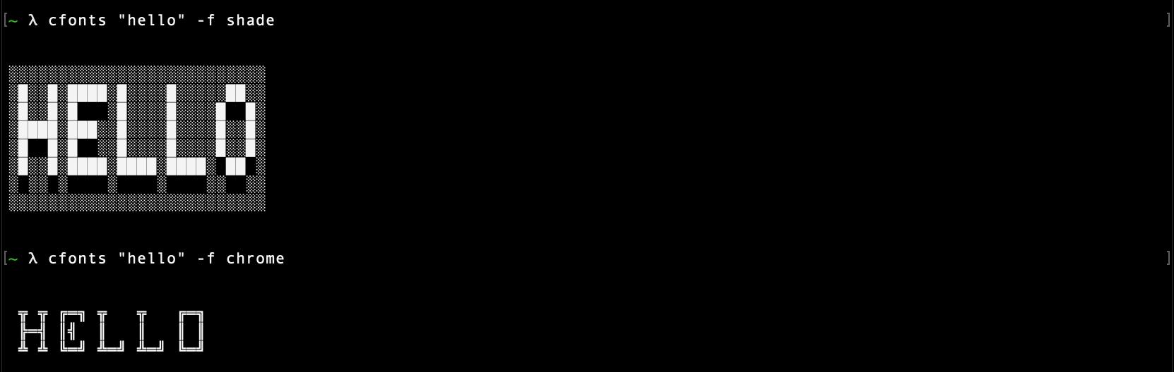 Font command