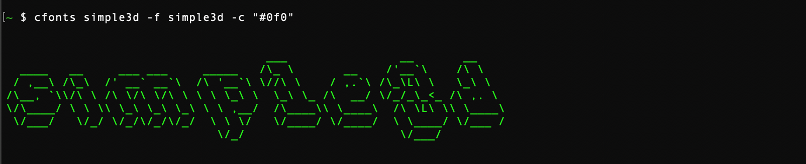 simple-3d font style