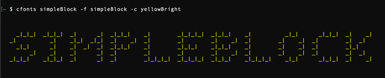 simple-block font style