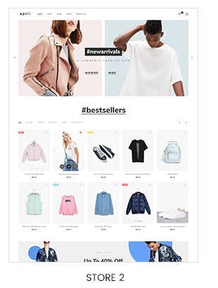 men vs women fashion store Prestashop