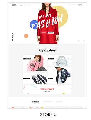 fullscreen hero slideshow Prestashop store