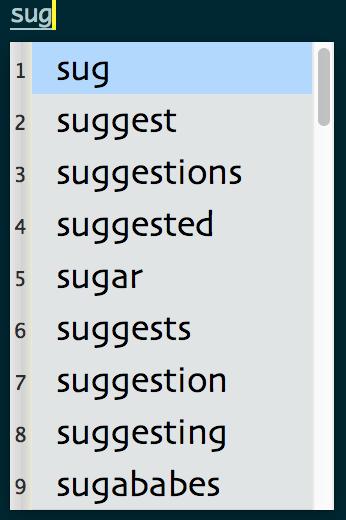 auto-suggestion