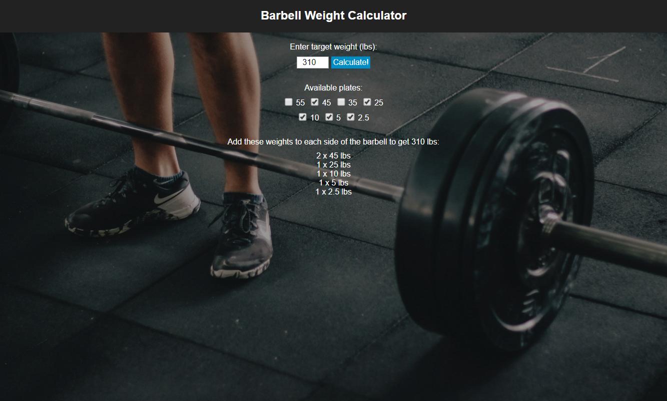 Barbell Weight Calculator