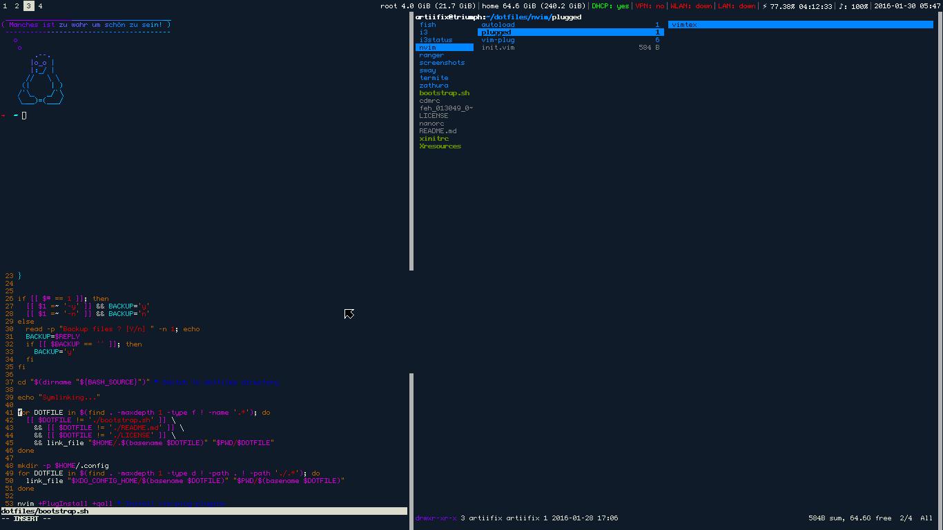 GitHub - dotlambda/dotfiles: Arch, Sway (Wayland :+1:), urxvt, fish