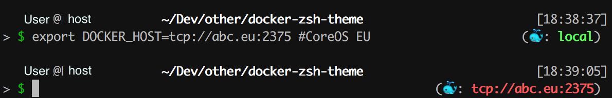 Screenshot of Docker-zsh-theme